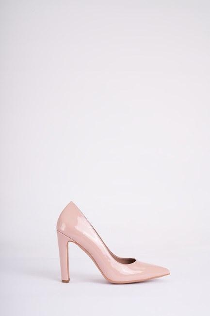 Mizalle - حذاء بكعب عالي سميك ( وردي فاتح ) (1)