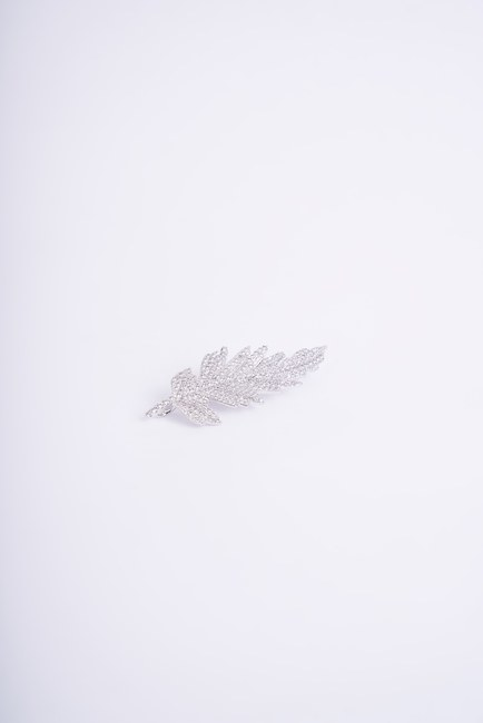 MIZALLE - بروش طويل نحيف (رمادي) (1)