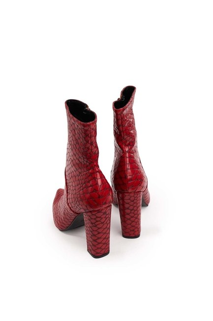 أحذية نمط التمساح (الأحمر) - Thumbnail