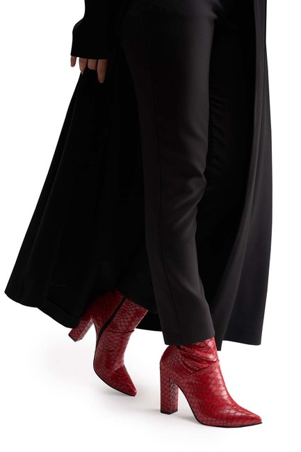 MIZALLE أحذية نمط التمساح (الأحمر)
