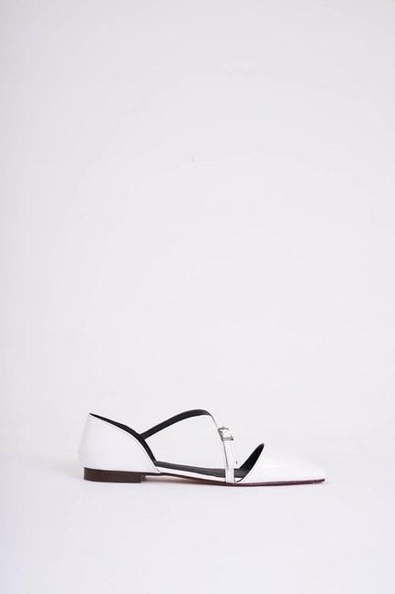 MIZALLE - Tokalı Rugan Ayakkabı (Beyaz) (1)