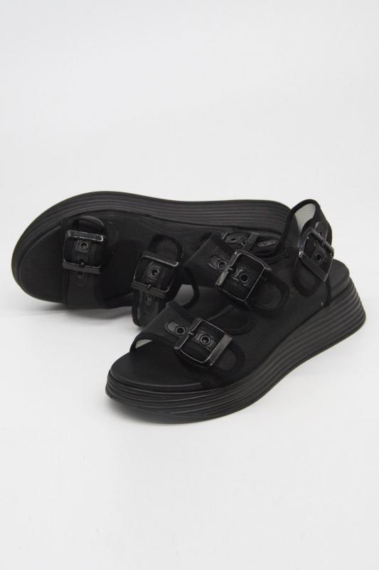 Tokalı Siyah Spor Sandalet