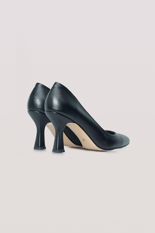 Topuklu Deri Ayakkabı (Siyah)