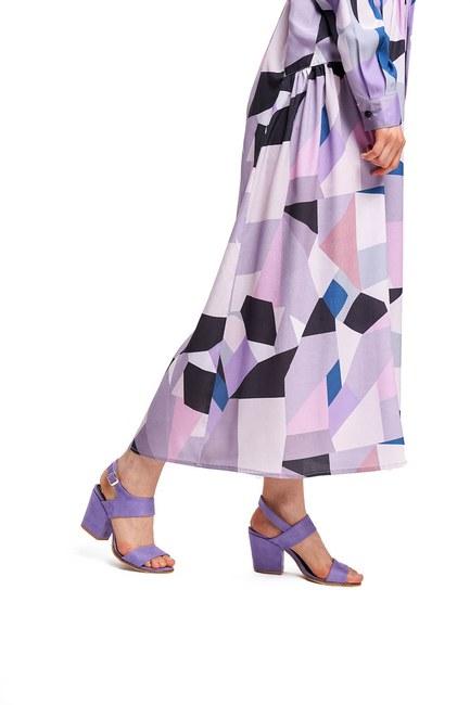 Topuklu Nubuk Ayakkabı (Lila) - Thumbnail