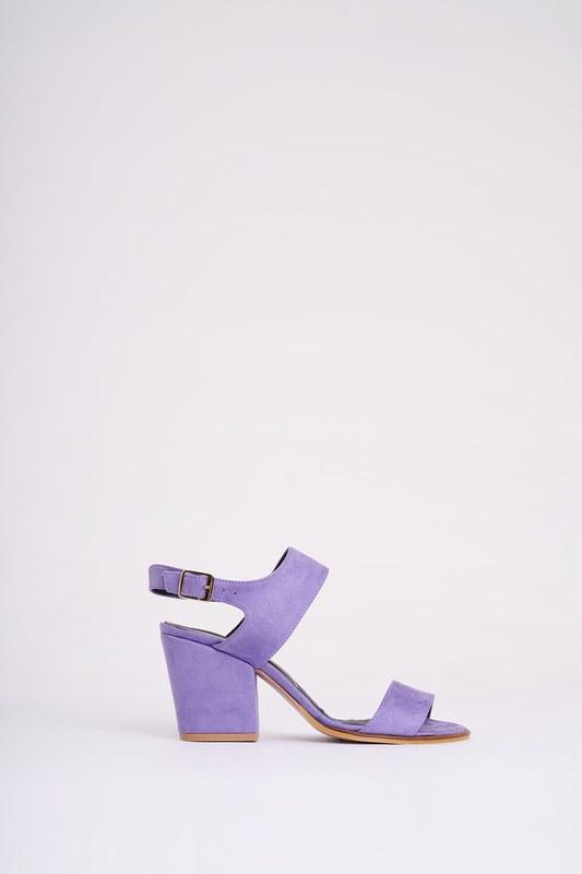 Topuklu Nubuk Ayakkabı (Lila)