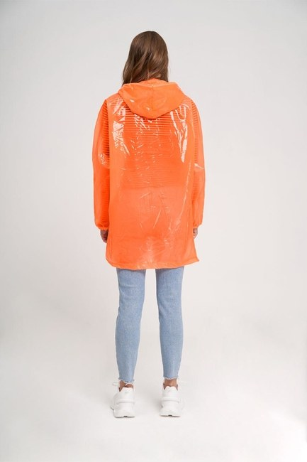 Transparent Raincoat (Orange) - Thumbnail