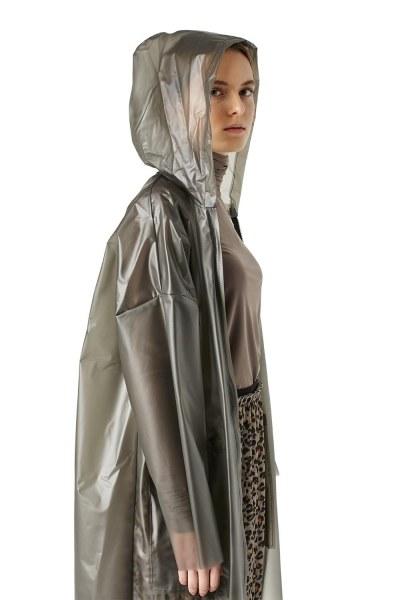 Mizalle - Transparent Raincoat (Stone) (1)