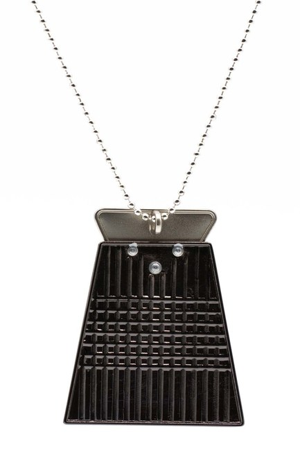 MIZALLE - Triangle Detailed Necklace (Black) (1)