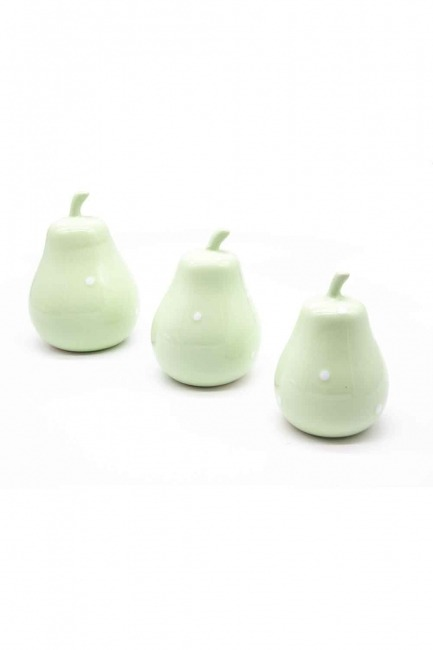 Triple Ceramic Pear Trinket (Green) - Thumbnail