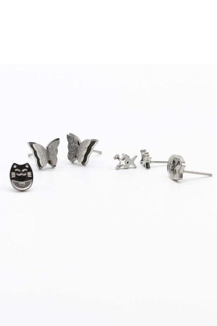 Triple Earrings Set - Thumbnail