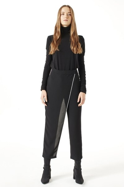 MIZALLE Trouser Skirt (Black)