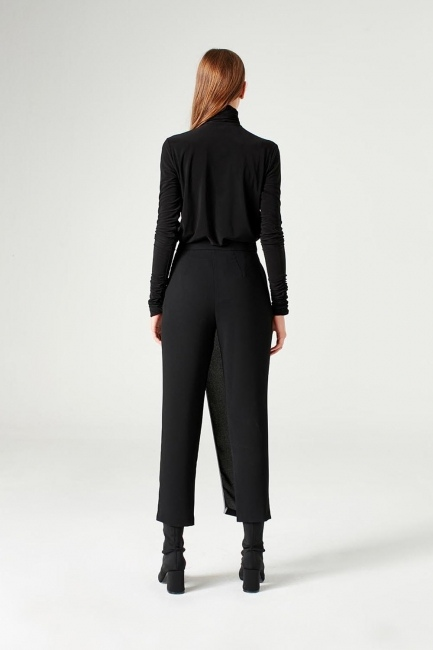 Trouser Skirt (Black) - Thumbnail