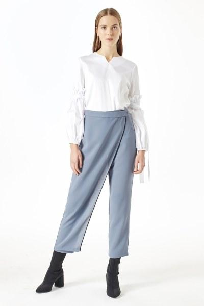 MIZALLE Trouser Skirt (Indigo)