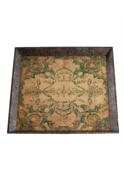 MIZALLE Turquoise Motive Wooden Tray