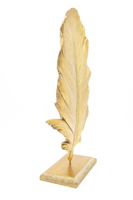 MIZALLE HOME - Tüy Dekoratif Obje (Altın) (1)