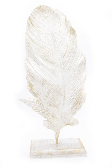 MIZALLE HOME - Feather Decorative Object (Nacre) (1)