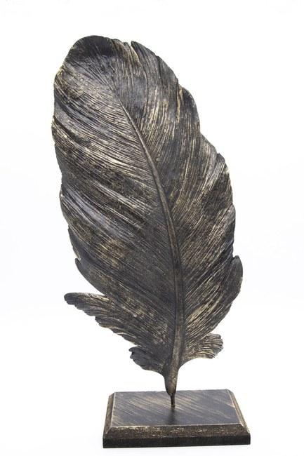 MIZALLE HOME Tüy Dekoratif Obje (Siyah)