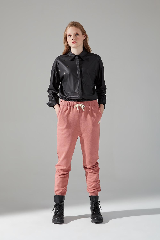 Üç İplik Bağcıklı Pantolon (Gül Kurusu)