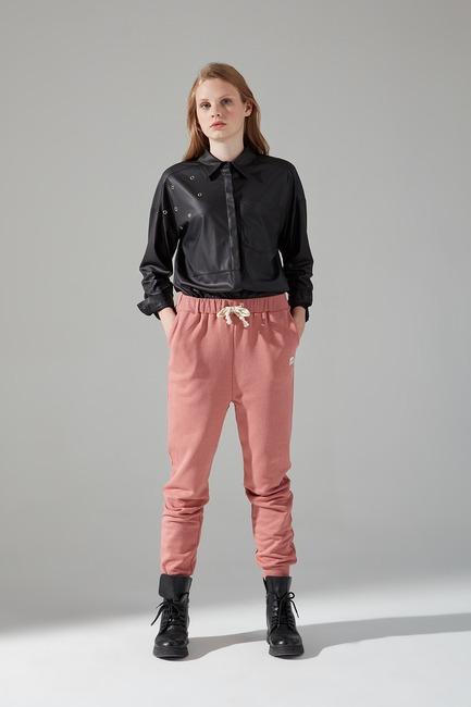 Üç İplik Bağcıklı Pantolon (Gül Kurusu) - Thumbnail