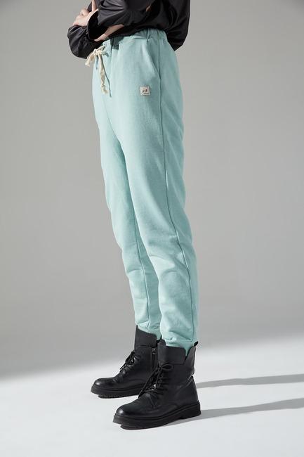 Üç İplik Bağcıklı Pantolon (Mint) - Thumbnail