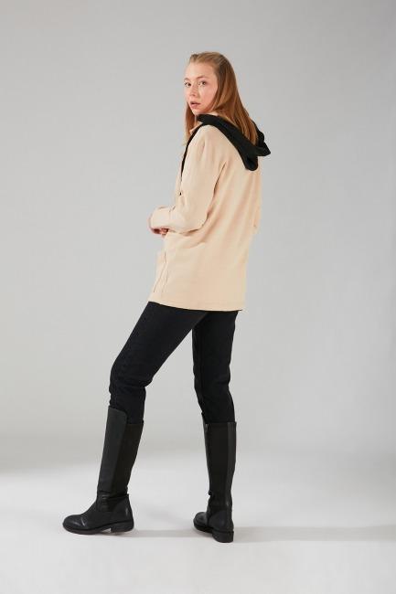 Üç İplik Ceket (Bej) - Thumbnail