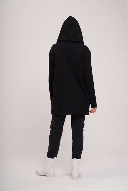 MIZALLE YOUTH - Üç İplik Ceket (Siyah) (1)
