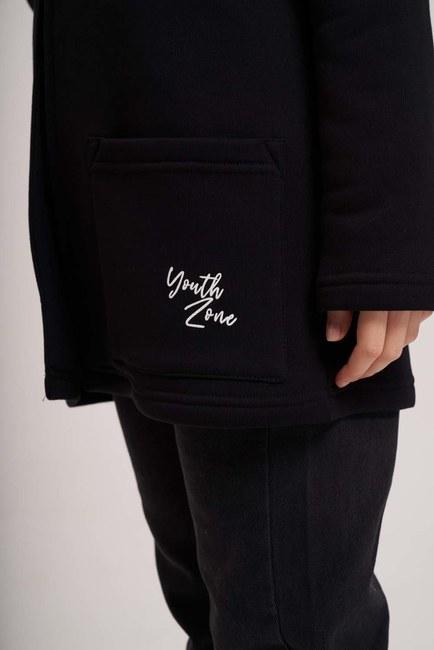 Üç İplik Ceket (Siyah) - Thumbnail