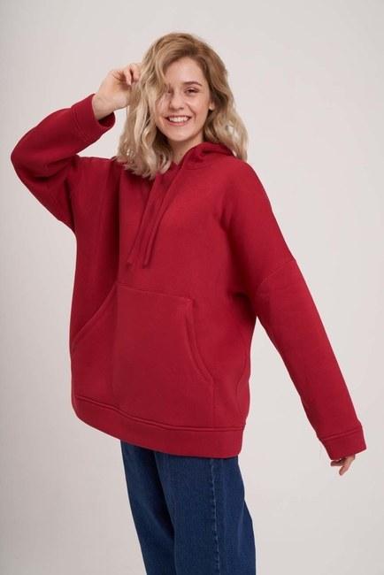 MIZALLE YOUTH - Three Yarn Raised Sweatshirt (Claret Red) (1)