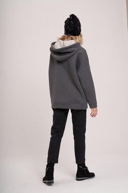 3 İplik Şardonlu Sweatshirt (Melanj) - Thumbnail