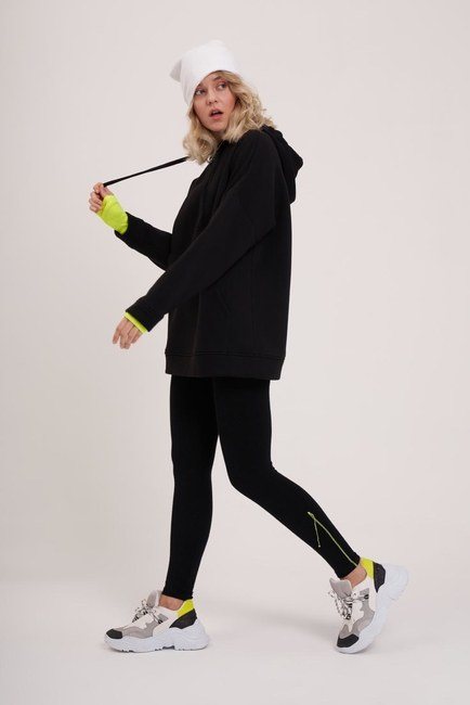 3 İplik Şardonlu Sweatshirt (Siyah)
