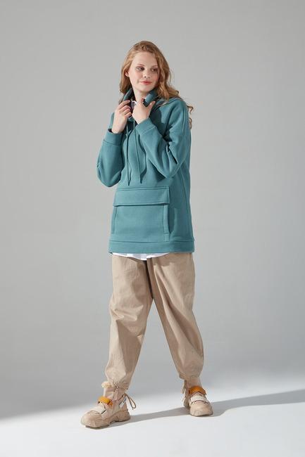 Mizalle - Üç İplik Sweatshirt (Çağla)