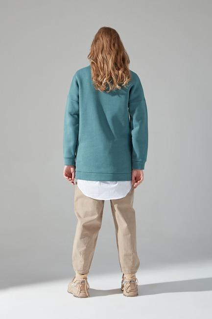 Üç İplik Sweatshirt (Çağla) - Thumbnail