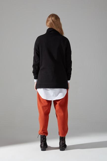 Üç İplik Sweatshirt (Siyah) - Thumbnail