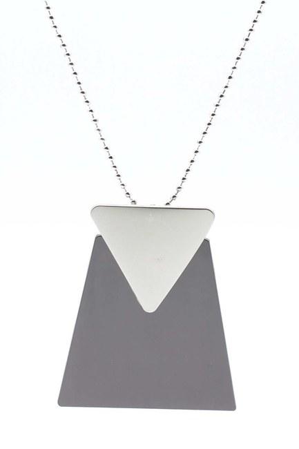 MIZALLE قلادة ثلاثية الشكل( أسود)