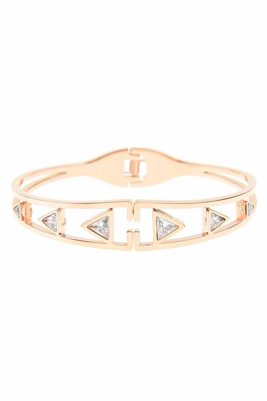 MIZALLE Triangle Steel Bracelet (St) (1)