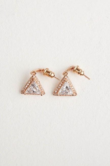 MIZALLE - Triangle Dangling Earrings (Yellow) (1)