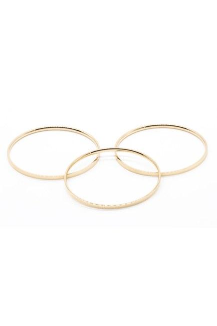 MIZALLE - Triple Steel Bracelet (Copper Colored) (1)
