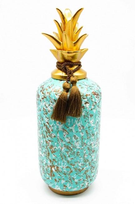 MIZALLE HOME - Üçlü Dekoratif Ananas Biblo (St) (1)