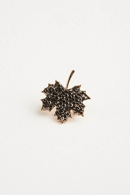 Üzüm Yaprağı Broş (St) - Thumbnail