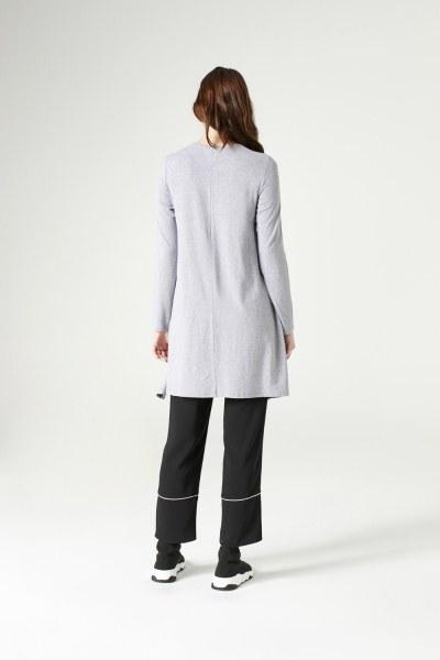 Long-Sleeved Basic Tunic (Grey) - Thumbnail