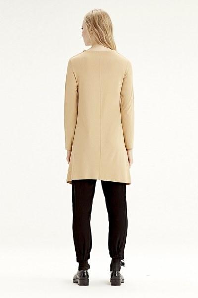 Long-Sleeved Basic Tunic (Mustard) - Thumbnail