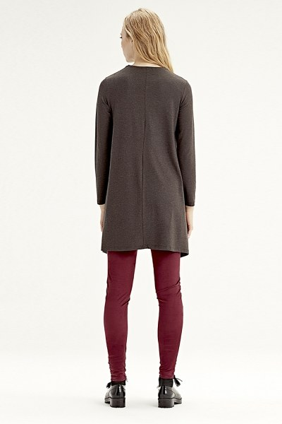 Long-Sleeved Basic Tunic (Brown) - Thumbnail