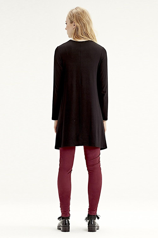 609cf681541 MIZALLE - Long-Sleeved Basic Tunic (Black)