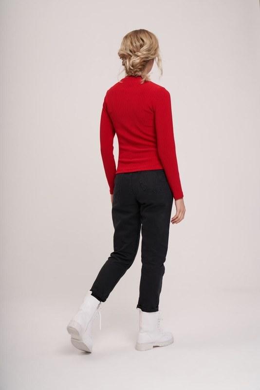 Uzun Kollu Ribana Bluz (Kırmızı)