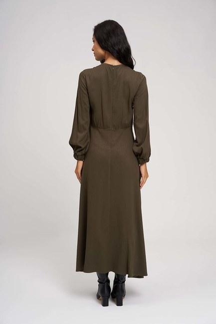 Long Piece Dress (Khaki) - Thumbnail