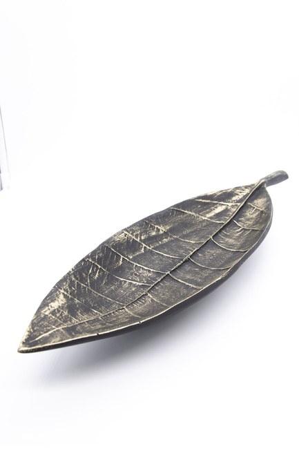 MIZALLE HOME - Uzun Yaprak Dekoratif Obje (Siyah) (1)