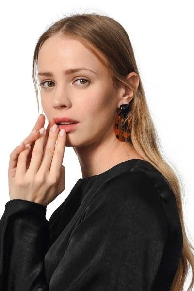 Vintage Earrings (Brown) - Thumbnail