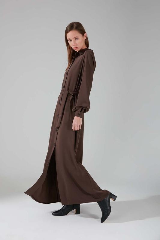 Viskon Uzun Elbise (Vizon)