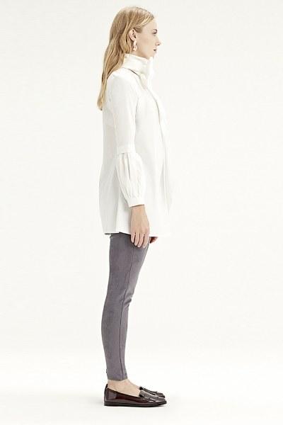MIZALLE - Flounce Sleeve Shirt (White) (1)