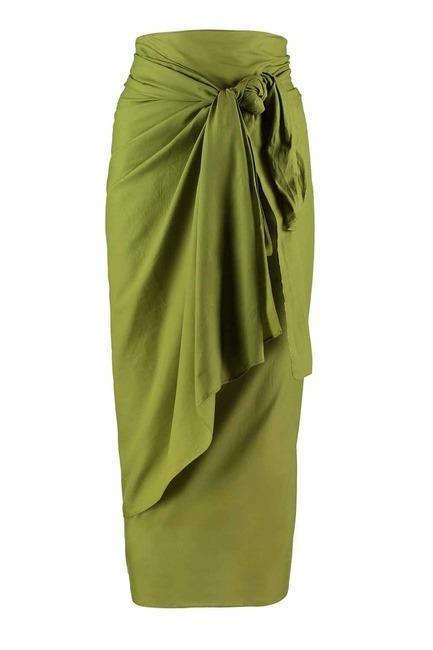 MIZALLE ملابس الشاطئ الفوال الملونة (البحرية الخضراء)